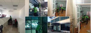 Tạp vụ văn phòng của nhà sạch hạ long