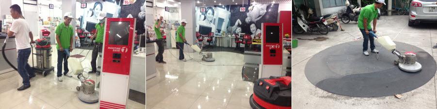 Làm sạch keo dán thảm và vệ sinh sàn