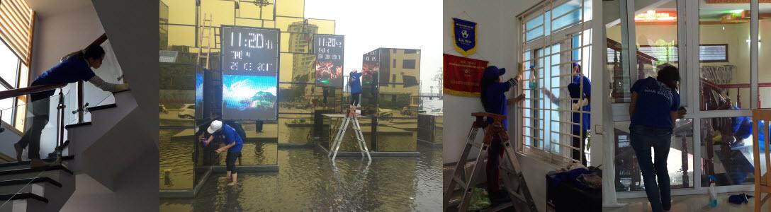 Dịch vụ lau kính tại Quảng Ninh